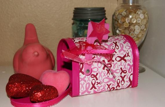 Pink Ribbon Awareness Mailbox  Survivor  Great Gift