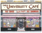 University Cafe - limited edition archival print