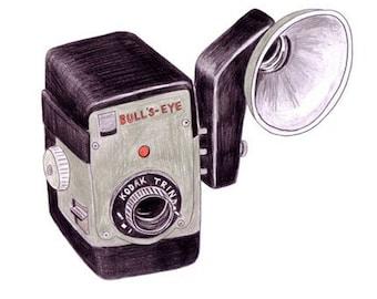 Bullseye Camera - archival print