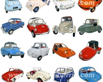MICRO CARS 1 - limited edition archival print