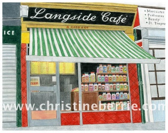 Langside Cafe - limited edition archival print
