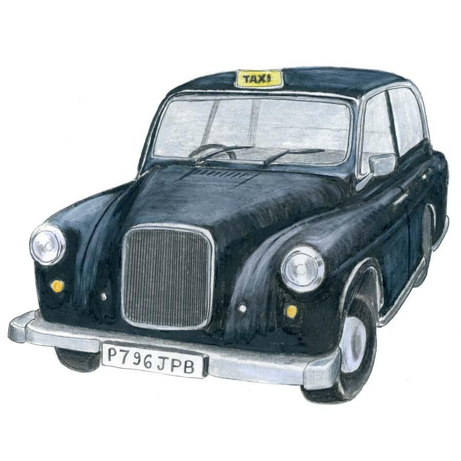 London Black Cab Drawing
