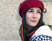 felt casket rasta cap style hat handmade in france rachel