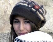felt casket rasta cap style hat  handmade in france anne