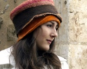 RESERVED Listing felt and cotton hat nuno felting handmade in franc abagail
