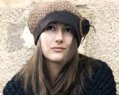 RESERVED Listing for  Christine Felt casket rasta cap style hat handmade in france amanda
