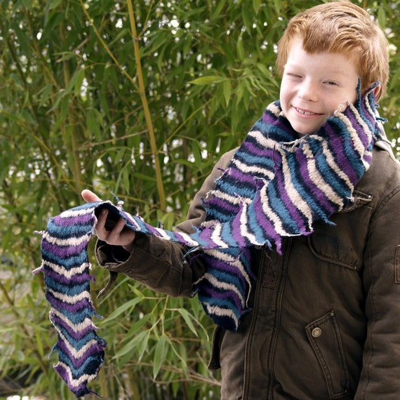 Felted scarf nuno felted scarf wearable art scarf handmade felt and cotton scarf fiber art merino wool multicolred scarf