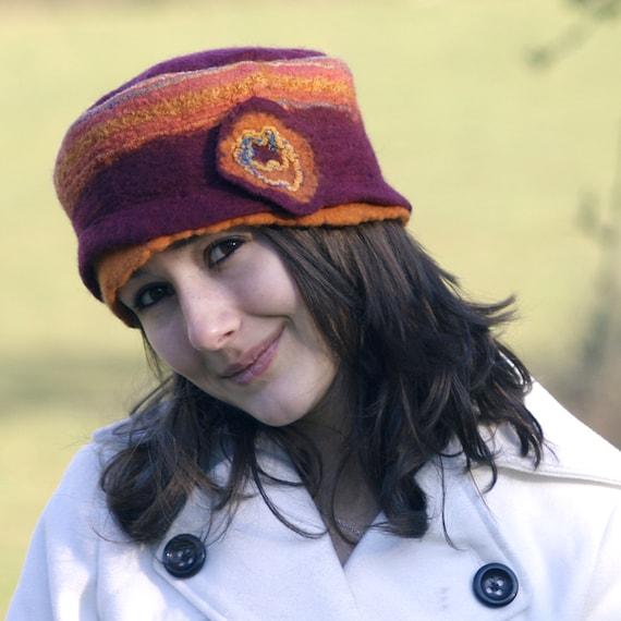 Handmade felt merino wool hat handmade in france canelle