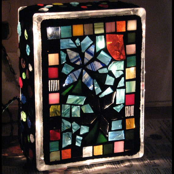 Mosaic Lighted Glass Block