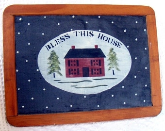 Bless This House Painted Framed Slate