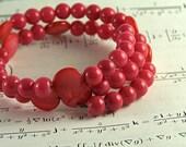 Physics Jewelry - Planck's Constant Bracelet - Science Teacher Hot Pink Gift