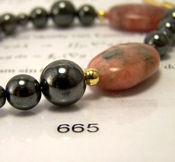 Math Jewelry - Feigenbaum's First Gray and Pink Constant Bracelet
