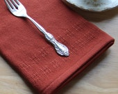 Rust handwoven table napkins. Set of 2
