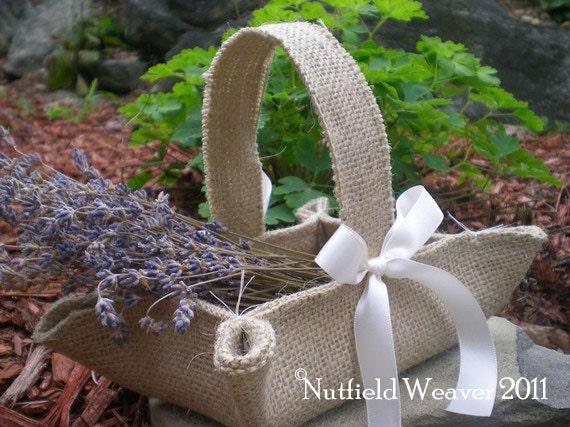 Handmade Jute Baskets : Items similar to handmade little burlap basket khaki