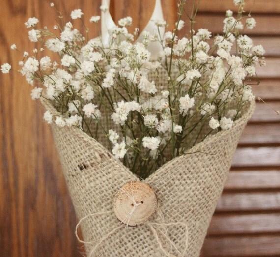 Wedding Pew Decoration Ideas: Etsy Thursday: Burlap Inspired Wedding