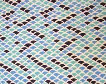 SALE Alexander Henry Briquetage Turquoise Fabric 1 yard