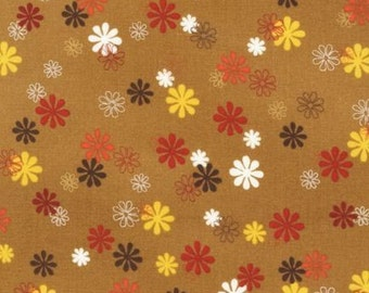 SALE Cocoa Flowers Playday Fabric by SEI for Robert Kaufman 1 yard