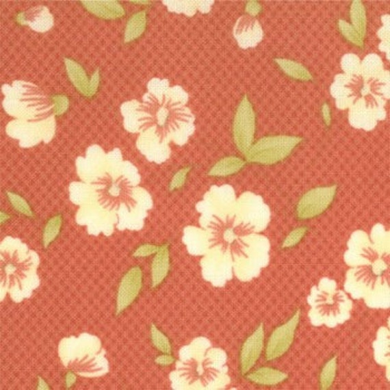 Whimsy Playtime in Light Red Fabric by Fig Tree Quilts for Moda 1 yard Last Piece