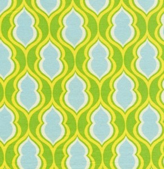 Pocketbook in Green Nicey Jane Fabric by Heather Bailey 1 yard