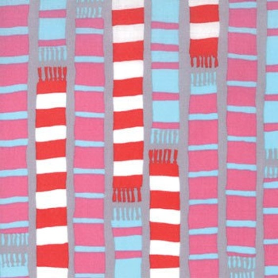 Scarf Stripe Scooter Grey 18504-16 Sherbet Pips by Aneela Hoey for Moda Fabric 1 yard Last Piece
