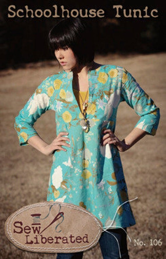 Shoolhouse Tunic Pattern by Sew Liberated no. 106 Shirt or Tunic Women's Sizes 2-20