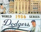 1956 World Series Game 6 -- NEW YORK YANKEES vs. BROOKLYN DODGERS Baseball -- Vintage Radio Broadcast -- Jackie Robinson's Last Hit -- 2-CD SET  w/  BONUS CD