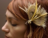 Millie Vintage Feather Peacock Hair Piece