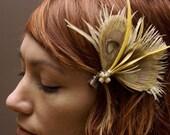Millie Vintage Feather Peacock Hair Piece