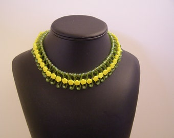 Yellow flower collar necklace