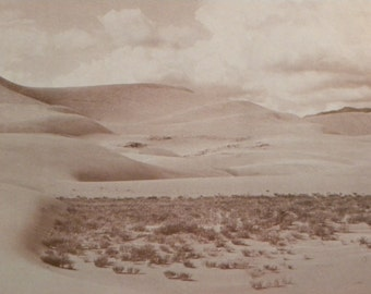 Vintage Photo Interpretation of The Great Sand Dunes