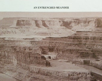 Vintage Photo Interpretation of an Entrenched Meander-The Grand Canyon