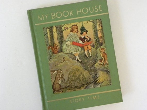 Vintage Childrens Book -- 1965 Story Time of My Book House -- Classic Childrens Fairy tales and Ryhmes