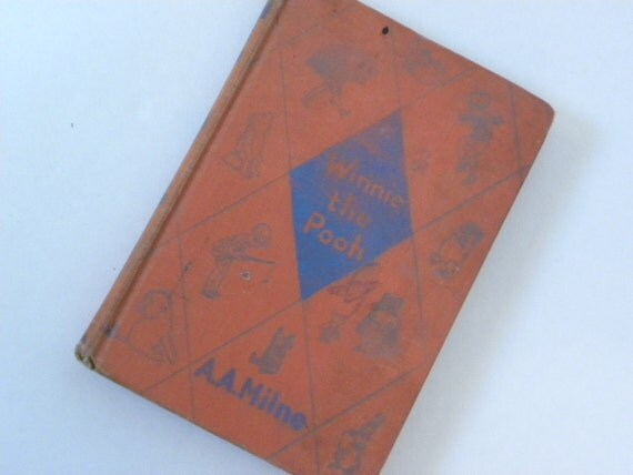 Vintage Winnie the Pooh Book -- Original story 1937 Edition by A. A. Milne with decorations by Ernest H. Shepard