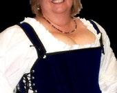 Odd Bodkin Goddess Bodice in Royal Blue Velvet - Made to Order - bluvel1