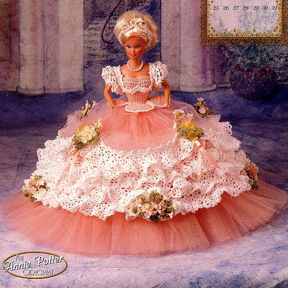 Annies Attic Royal Ballgowns Crochet Pattern Miss May 1997
