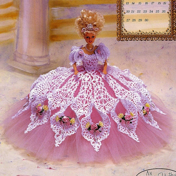 Annies Crochet Patterns : Annies Attic Royal Ballgowns Crochet Pattern, Miss September 1998, for ...