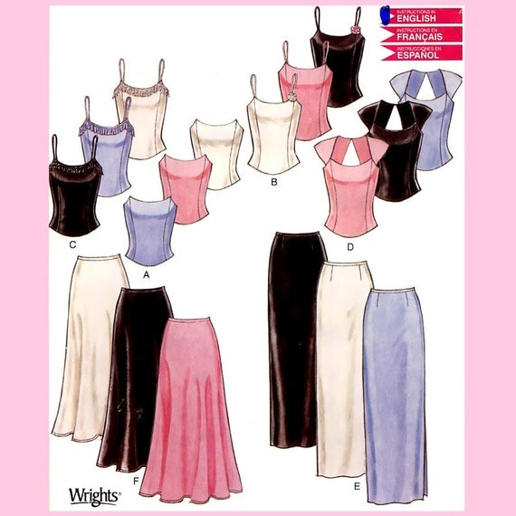 228 Womens Formal Wear, Tops & Skirts, Prom, Evening Wear sizes 6 to 16 Sewing Pattern, Uncut Simplicity New Look 6140