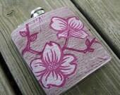 Letterpress Dogwood Flask