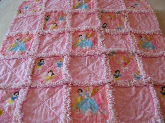 Princess Baby Girl Rag Quilt Blanket