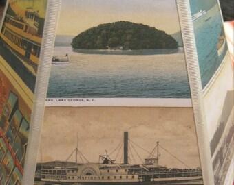 Lake George Lamp Shade Lampshade Vintage Postcard Shade - Camp Decor - 5x10x7 clip