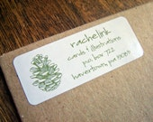 Pine Cone - return address label stickers - set of 60
