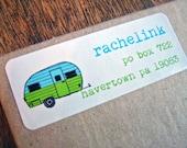 Retro Camper - Address Label Stickers