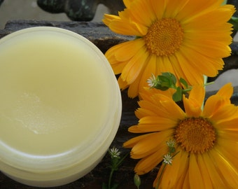 Calendula - Chickweed Herb Infused Herbal Hand and Body Balm - Organically Grown Chickweed & Calendula - Made with Organic Ingredients