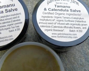 Tamanu Calendula Salve - Organic Tamanu oil - Unscented -  Herbal Infusion - Herbal Balm