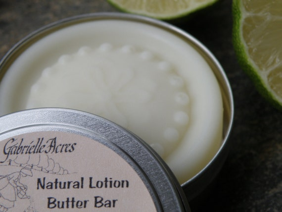 Lime and Coconut Lotion Butter Bar with Organic Ingredients