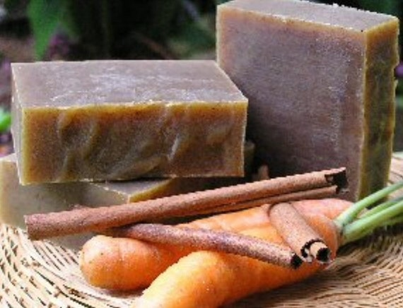Carrot-Honey Spice All Natural Handmade Soap with Organic Ingredients
