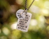 Custom Listing for Amanda - So there's this boy... Custom Hand Stamped Mommy Necklace by MyBella