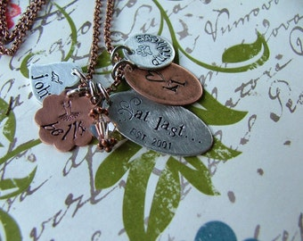 At Last Custom Hand Stamped Necklace by MyBella