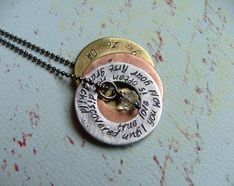 Custom Grandmothers Necklace - true love is often not discovered, until you hold your first grandchild - by MyBella