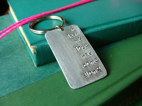 Custom Hand Stamped My Favorite Lyrics Keychain by MyBella